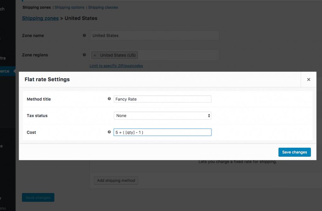 Shipping Setting - custom shipping calculation using flat rate shipping